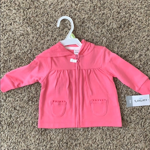 NWT Carter's 0-3 month hoodie